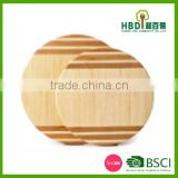 High quality bamboo stripe round bamboo cutting board,thick & round meat cutting board wholesale