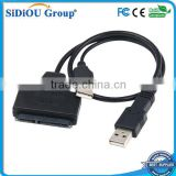 "Sidiou Group USB 2.0 to SATA 7+15 Pin Adapter Cable for 2.5"" HDD Hard Disk Drive"