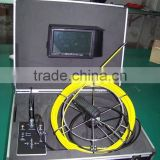 Self-leveling & Locating & Meter Counter & DVR Function Pipe Sewer Drain Inspection Camera With 9mm, 60-120m Push Rod