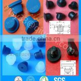 10ML 20ML ISO Standard Glass Vials Rubber Stopper Caps dustproof silicone rubber holes plug stopper cap