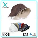 customer plain cotton bucket hat