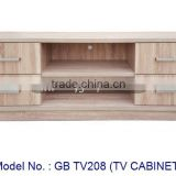Modern Wooden Tv Cabinet With Drawers, Small Tv Stand With Showcase, Simple Living Room Furniture