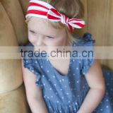 Top quality colorful striped bowknot knot girl hair headband,wholesale baby knot headband