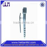 Professional Manufacture Temporary No Dig Ground Screw Pole Anchor For Solar Panel Mounting System