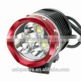 Uniquefire cree t6 rechargeable mining red led bike headlamp