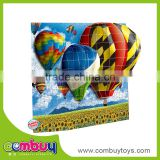 High quality plastic toy set hot air balloon board super 3d puzzle
