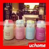 UCHOME Cute Travel Vacuum Mugs Stainless Steel Thermos Bottle Thermos Cup For Children Bouncing Thermos