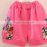 pink little girl 2 piece clothes yiwu clothing children's set cheap price summer cotton clothing baby clothes set