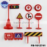 Traffic signs toy plastic warning road sign education toy for traffic knowledge learning toy