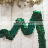 Beaded Sequin Applique Elastic Stretch Lace Ribbon Embroidered Trim