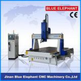 ELE 1530 wood 4 axis cnc router , 4th axes rotary machine, 3d sculpture cnc router for EPS foam, mould