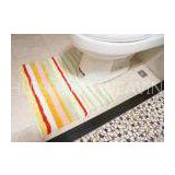 Hotel / Home bathroom toilet floor mats , Washable non skid bath mats