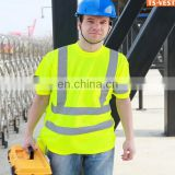 Hi Vis Road Clothes Traffic Unisex Emergency Reflective Safety Shirt