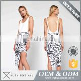 Price Cutting black and white stripe casual dress philippines Designer Clothing Dropship