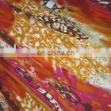cotton knitted fabric with printed
