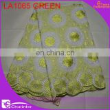 swiss cotton voile lace cotton embroidery lace african lace fabric big voile lace big lace fabric LA1065 green
