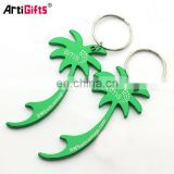 Deft design palm tree bottle opener key chain