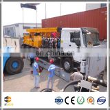 Truck mounted hydraulic rotary bore hole drilling rig export to Africa with mud pump on board