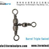 Barrel-triple-swivel-style-A-fishing-swivel-snap-terminal-tackle-TERMINALPRO