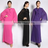 muslim clothing manufacturer women long sleeve chiffon colorful abaya in india