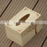 wholesale decoration natural wood storage tissue box