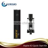 100% Original Aspire Vape K2/ K3/ K4 vapor Starter Kit 2000mah 3.5ML K3 quick starter kit
