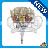 Star Jelly Ball Lollipop with Ice Cream Cone/Gelatin Candy Marshmallow Lollipop /Gummy Jelly Marshma