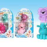 bath toys 4 different cartoon animal PVC toys