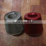 "Universal 3"" 76mm High Flow Turbo Charger Cold Air Intake Mesh Filter Carbon"