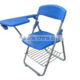 Modern Design Folding School Student Chair With Writing Tablet ,Folding Plastic Chair Z-017