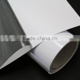 Self adhesive car sticker one way vision window film inkjet printing 180gsm perforated vinyl rolls inkjet pvc vinyl
