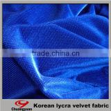 China Supplier Produced Lycra New Design Printed Polyester Velvet Fabric For Women Dresses