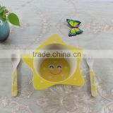 Alibaba china lucky star bamboo fibre baby bowl/children dinner set/kids plat