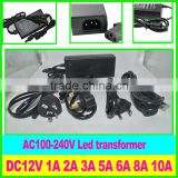 12V10A 120W Power Supply LED Switching Power Adapter AC to DC Voltage Converter Transformer universal AC adapter 12V