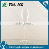 2015 New design promotional handmade liquid bulk crystal wine glass