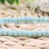 Solid Jade Mint Blue 2mm to 12mm AAA Quality Wholesales Price Loose Crystal Facted Roundelles Glass Beads for Jewelry Cheapest