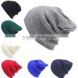 women ladies winter hat hip hop casual knitted hat cap hats for women men girls boys cotton turban 2016 new Sports street style