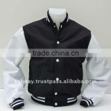 Black and White Varsity Jacket Letterman Baseball Jacket