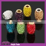 wholesale Polymer clay oval beads big holes Factory supply