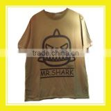 2016 Hot Sell Product Bros Mr Shark 100% Cotton Short Sleeve Brown T-shirt