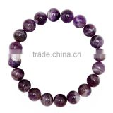 Gorgeous 10mm 7.5 Inch Teeth Amethyst Gemstone Bangle Bracelet (Jewelry Box is not Included)