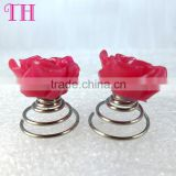 girls hair accessories red rose shape metal plastic hair barrettes for kids