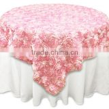 "85""x85"" Grandiose Rosette Table Overlays/wedding decorations 120 132 round rosette satin embroidered elegant fancy table overlay"