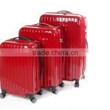 100% Pure PC Travel Suitcase 3 PCS Luggage Bag with TSA 4 360 degrees double wheels 100% Pure PC Trolley Luggage
