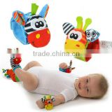 Wholesale Infant Animal Wrist Strap Rattles Baby Handbell Toys