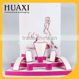 Guangzhou Huaxin Factory Newest Pink wooden jewelry display stands