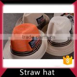 Summer straw baseball hat