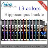 Love Mei 13 colors Hippocampal bukle metal bumper case for HTC Desire 816, Mobile phone cover For HTC 816 cover 13 colors