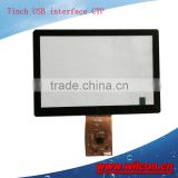 7inch 5:3 USB interface capacitive touch panel support WIN 7/8 and linux Android system