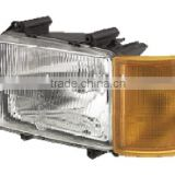 DAF truck body parts,DAF truck spare parts, DAF 65-75-85-95 HEAD LAMP WITH CORNER LAMP 1213925/1305186 1283240 RH 1213924/130